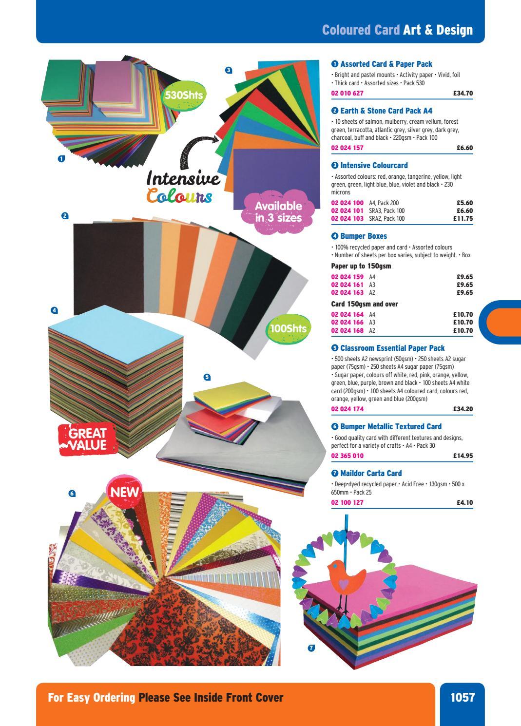 Blue Card Size A4 A3 A2 Art Craft Thick