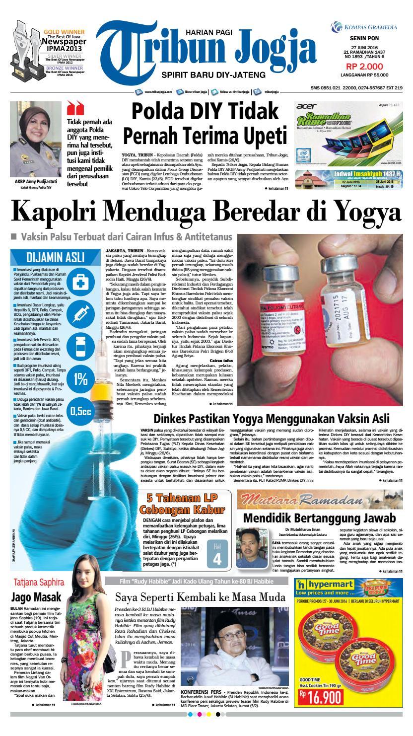 Tribunjogja 27 06 2016 By Tribun Jogja Issuu Strong Kangen Water Ph 115 Ukuran 1000 Ml Terapi Air Kelas Dunia Indonesia