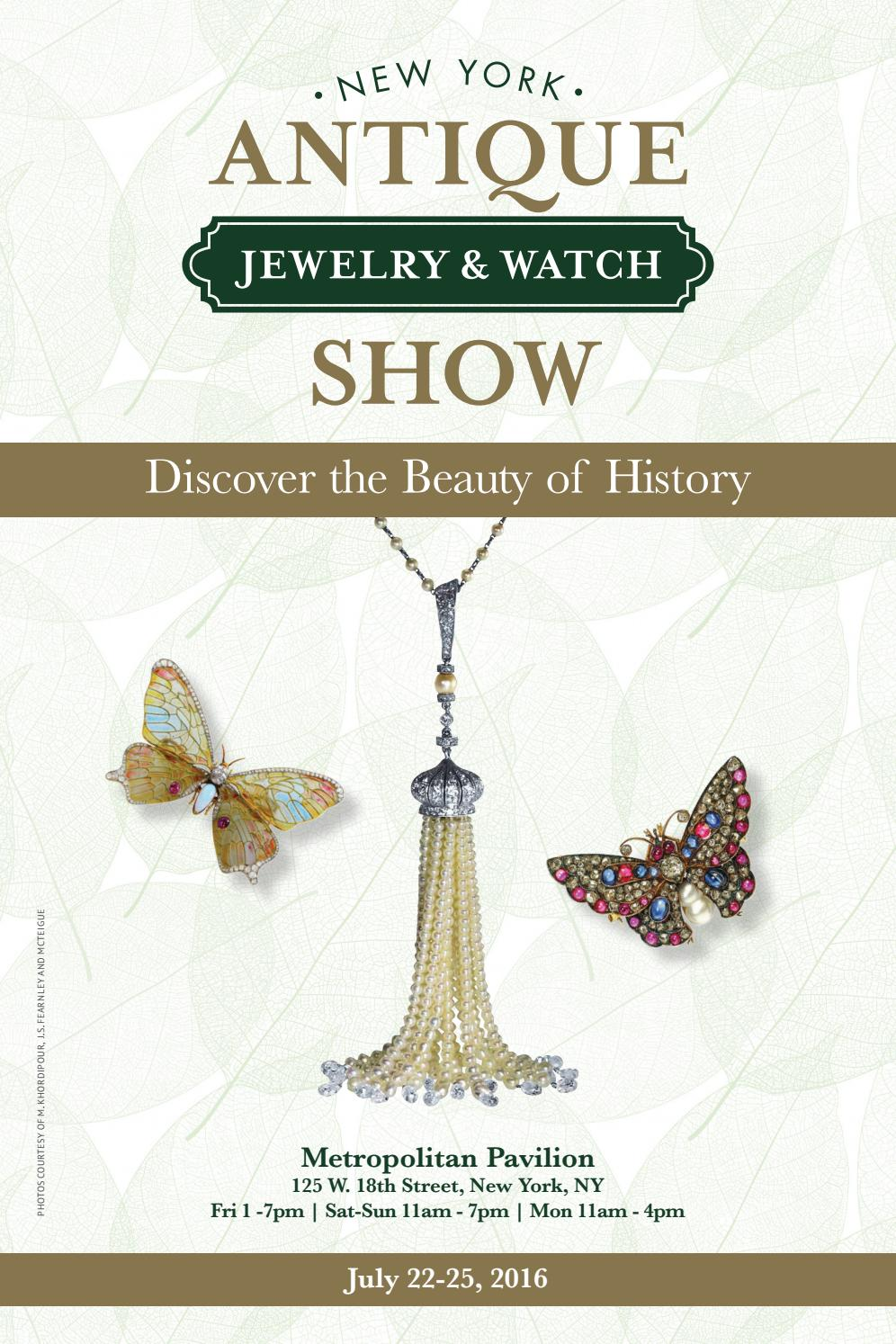 The New York Antique Jewelry Watch Show 2018 Directory
