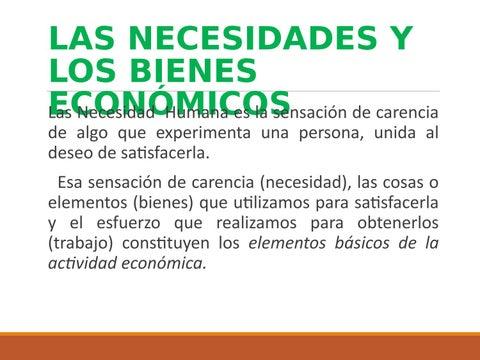 Clase Sobre Tipos De Necesidades Y Bienes By Lore Mejía Issuu