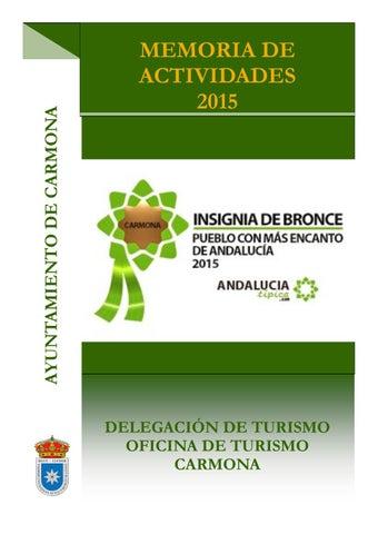 Memoria turismo carmona 2015 by turismo de carmona issuu for Oficina turismo carmona