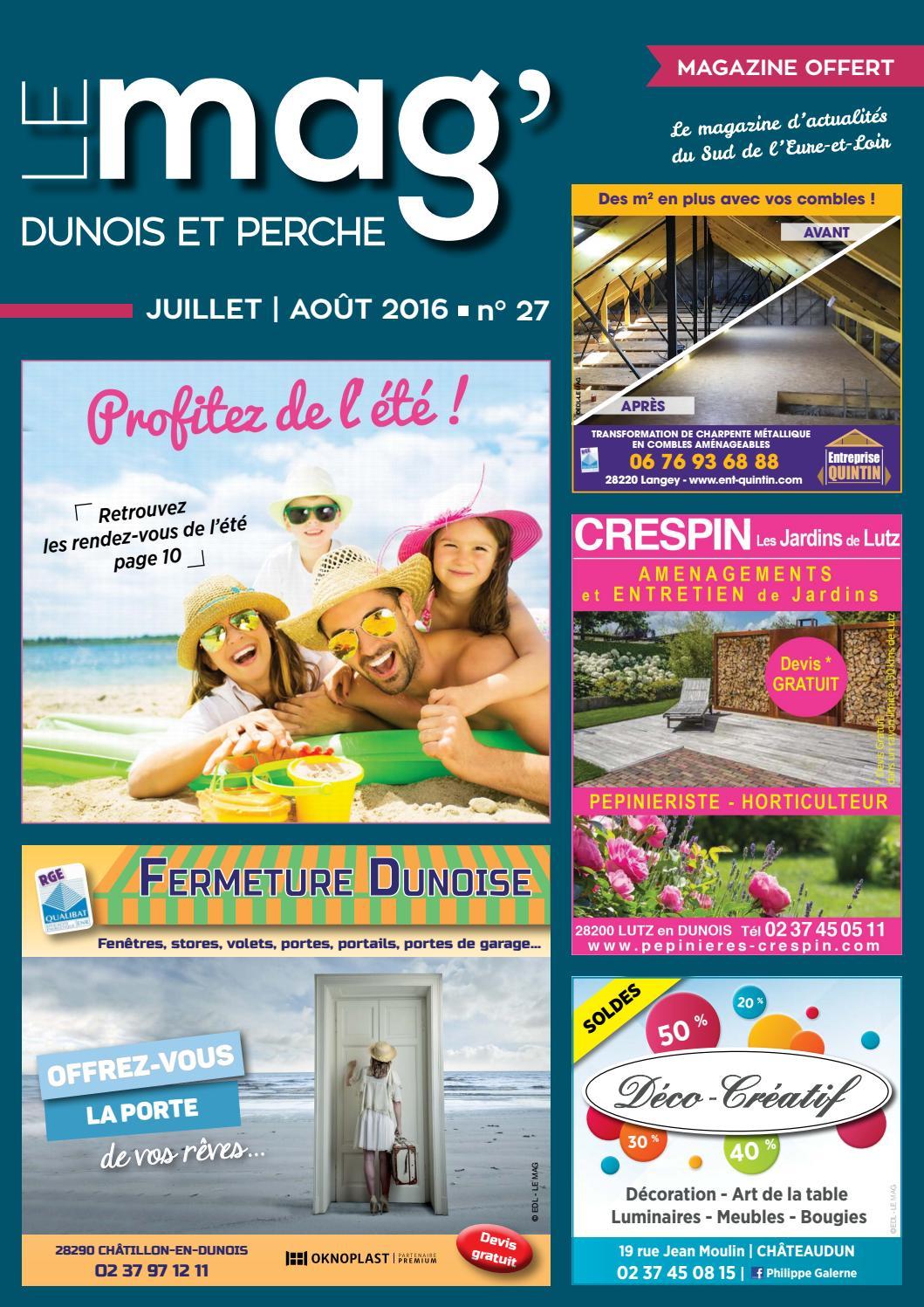 Le mag 39 dunois et perche n 27 juillet ao t 2016 by le for Garage ad chateaudun