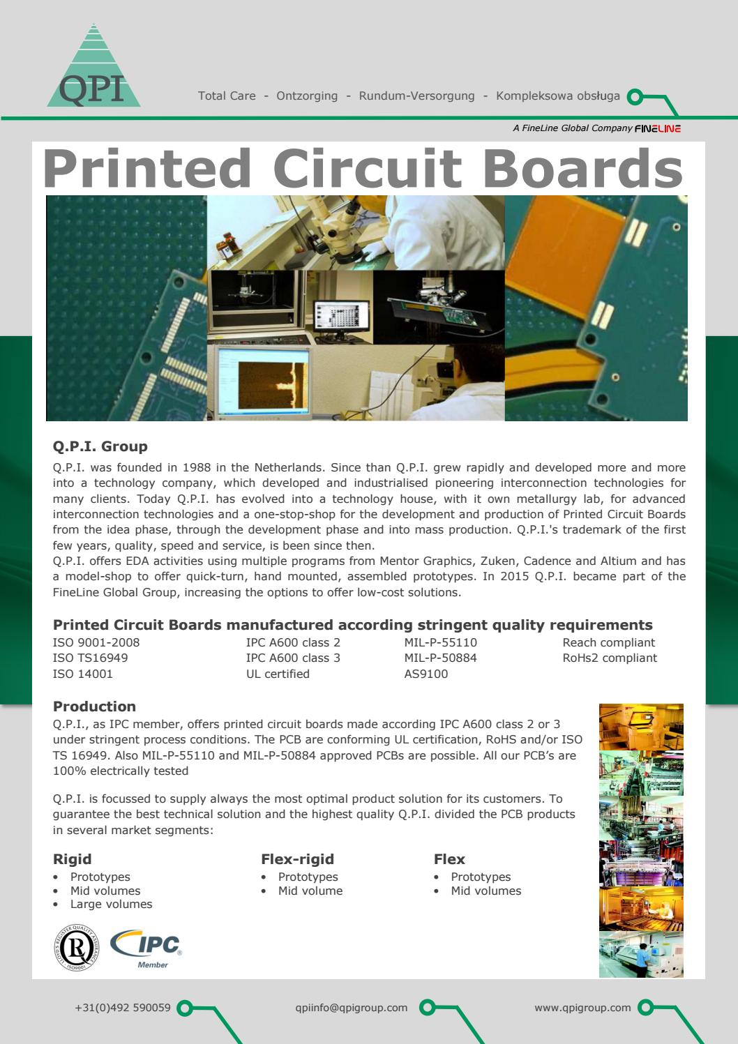 Qpi Group Brochure2016 By Edward Snelleman Issuu Multilayer Pcb China Manufacturer Ul Rohs Ourpcb