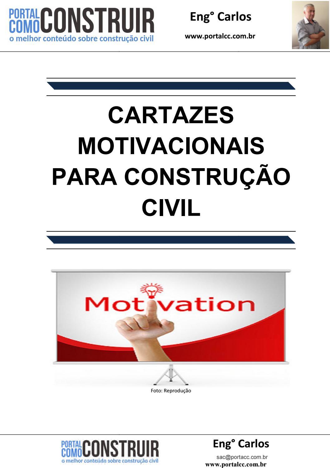Cartazes Motivacionais Para Construção Civil By Premonta Issuu