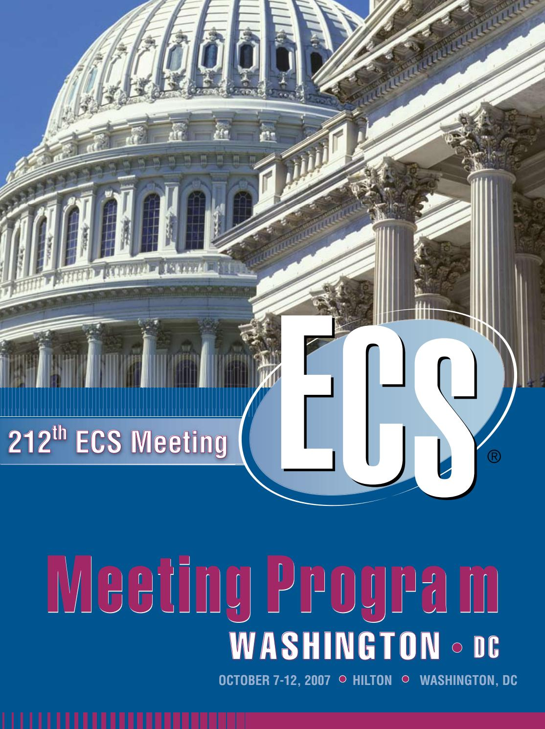 212th Ecs Meeting Program By The Electrochemical Society This Shows Top In Vivo Flexible Large Scale Integrated Circuits Lsi Issuu
