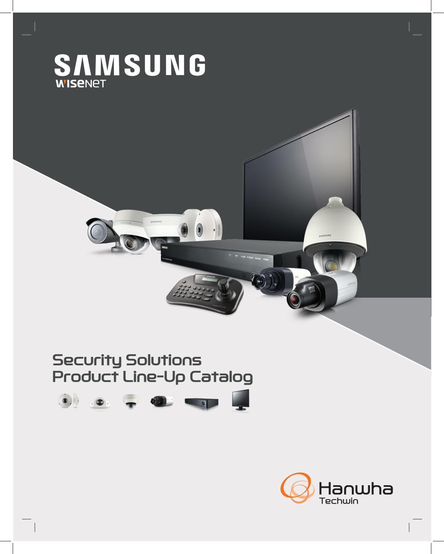 Catálogo Hanwha Techwin America - 2016 Q3 ENGLISH - SAMSUNG