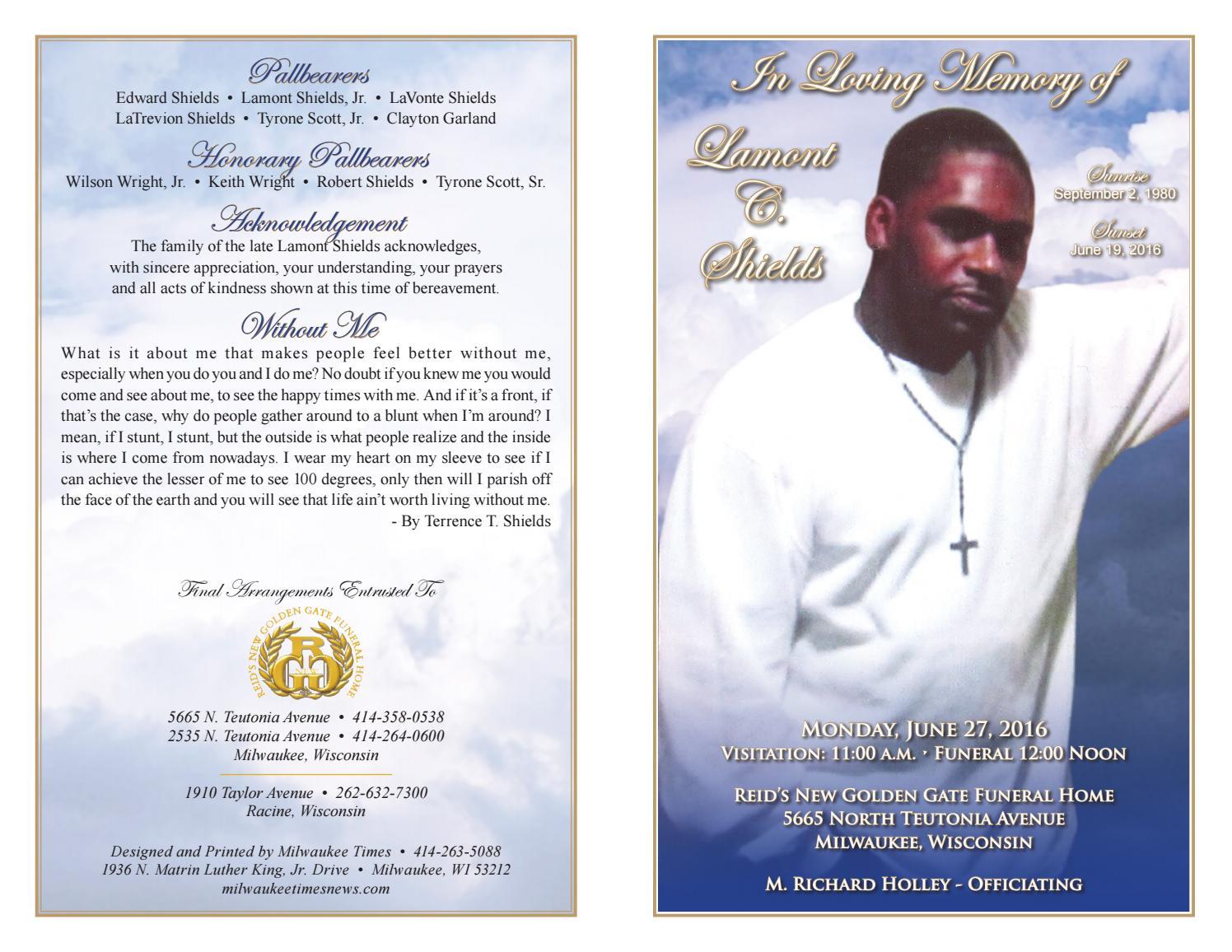 Golden Gate Funeral Home Obituaries Milwaukee