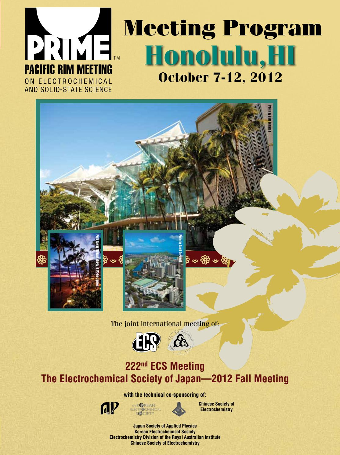 9312aab2ca50 PRiME 2012  Meeting Program by The Electrochemical Society - issuu