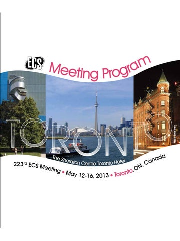 223rd ECS Meeting: Meeting Program by The Electrochemical