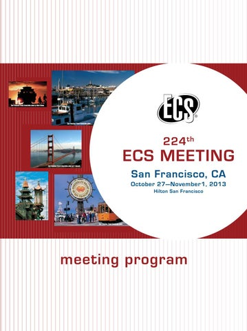 224th ECS Meeting: Meeting Program by The Electrochemical