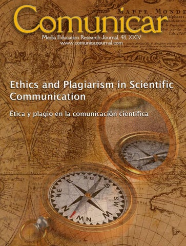 Comunicar 48 Ethics And Plagiarism In Scientific Communication By