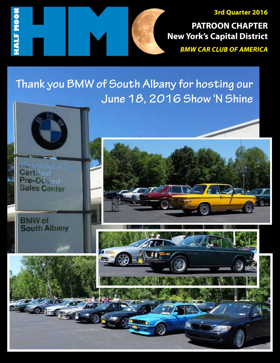3rd Qtr 2016 Patroon Half Moon By Bmw Cca Patroon Chapter Issuu