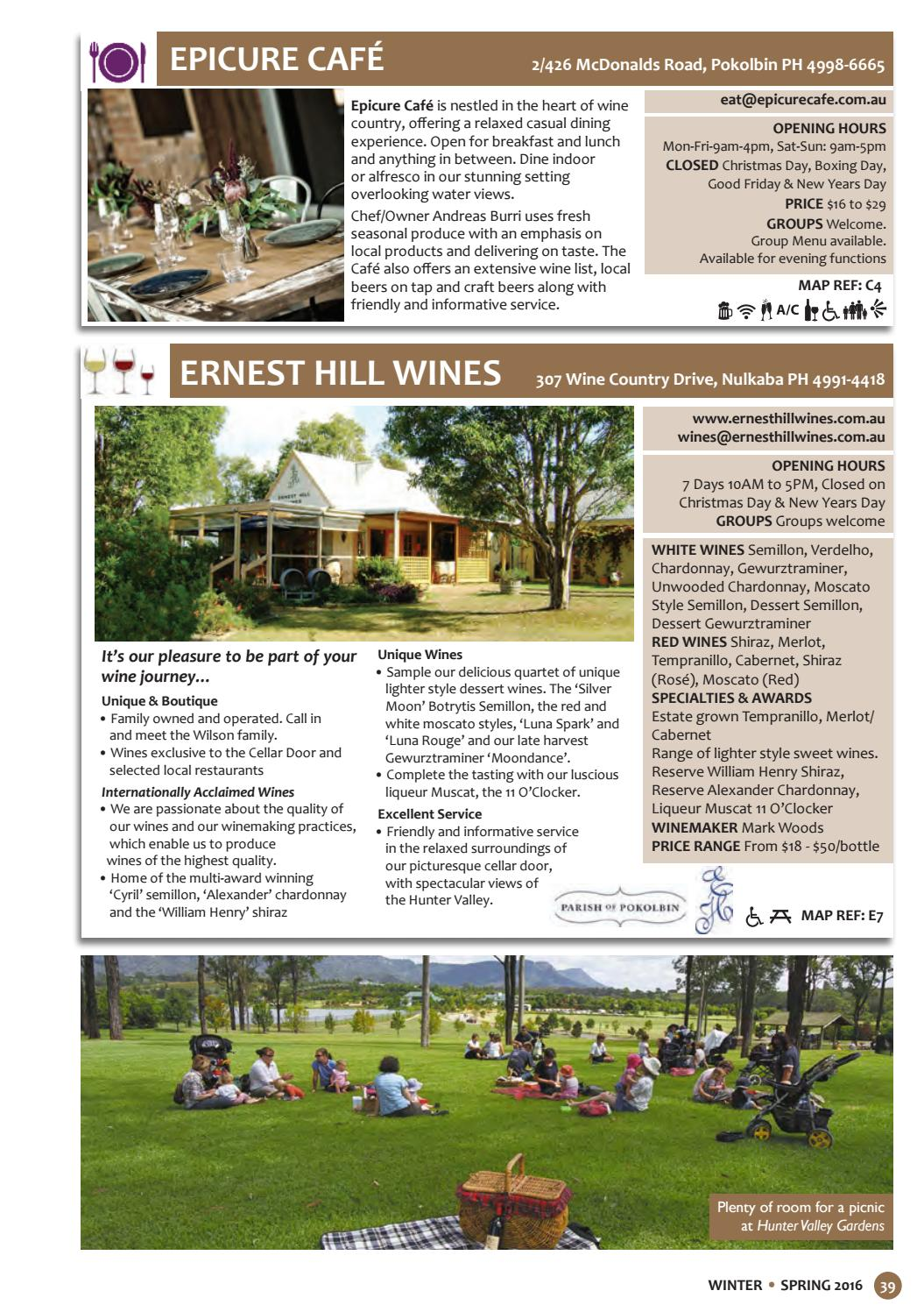 WINE & DINE HUNTER VALLEY Issue 11 - Winter | Spring | 2016 by WCP ...