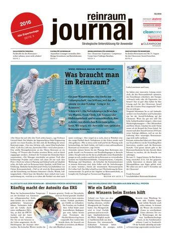 reinraum journal 02-2016 by Cleanroom Magazin - issuu