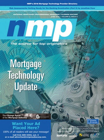 Florida Mortgage Professional Magazine June 2016 by NMP Media Corp