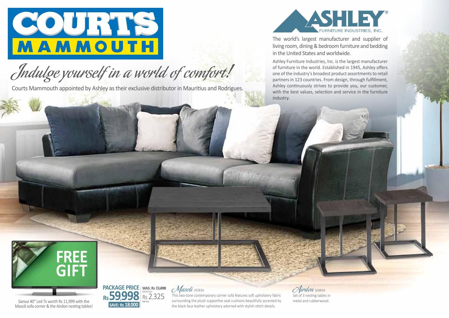 Courts mammouth mauritius ashely furniture new for Furniture house catalogue
