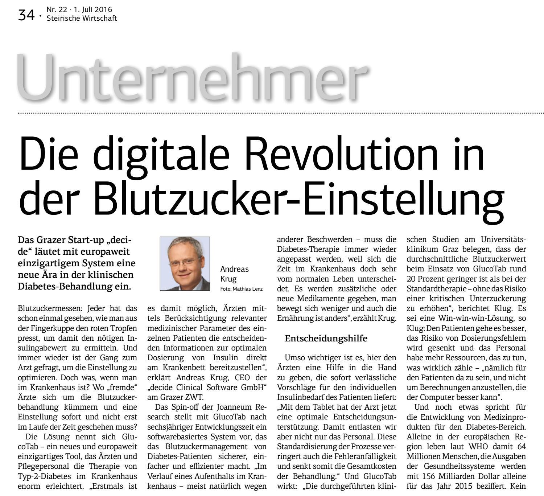 Decide: Die digitale Revolution in der Blutzucker-Einstellung