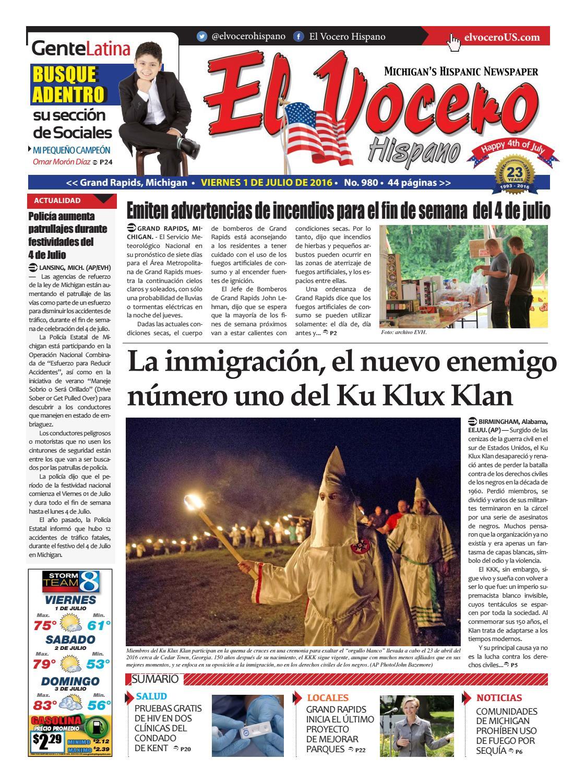 El Vocero Hispano 1 de Julio de 2016 by El Vocero Hispano - issuu
