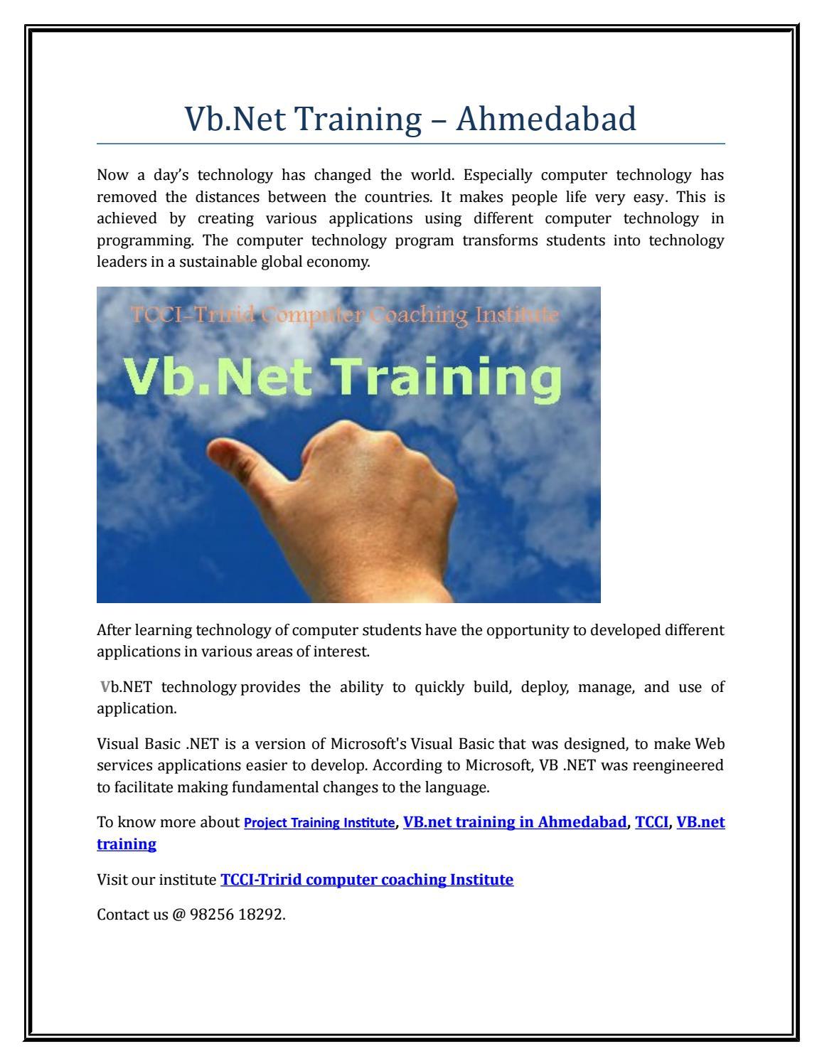 Vb net training ahmedabad by Rosario Riley - issuu