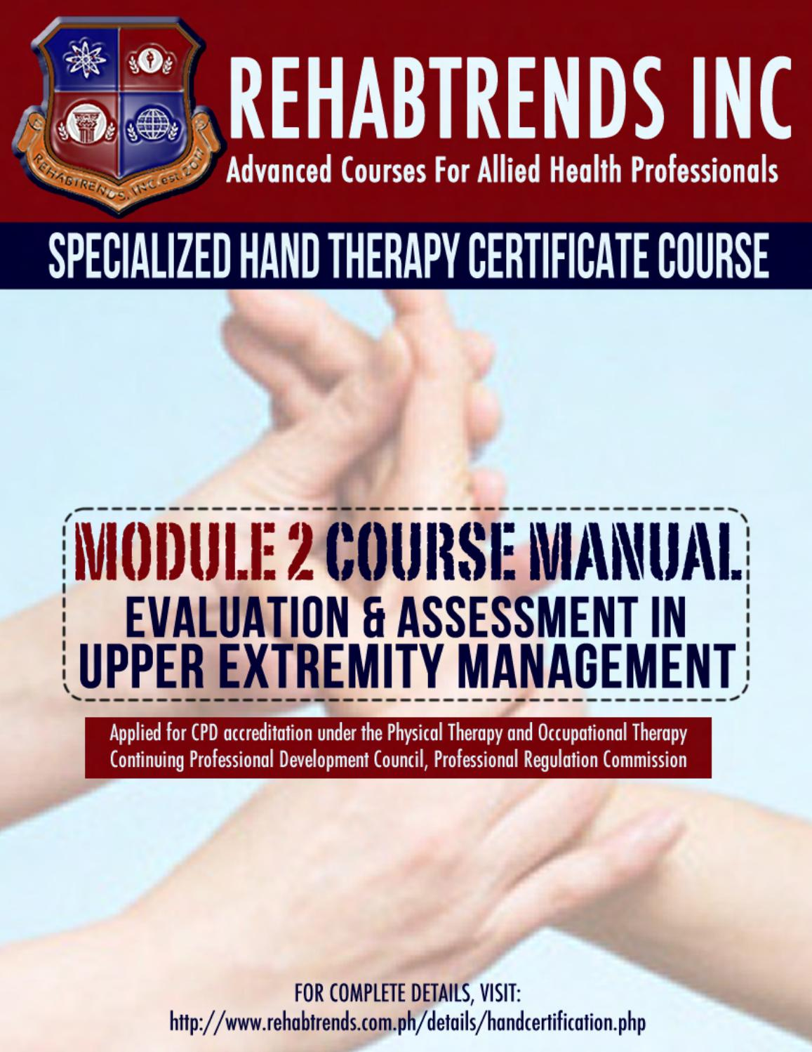 Specialized Hand Therapy Course Manual Module 2 By Jokeresteban Issuu