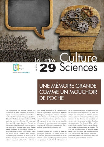 La lettre Culture Science n°29