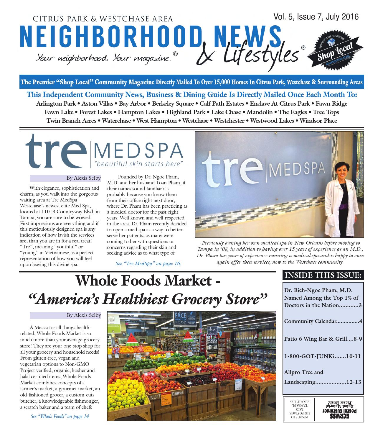 Westchase - Vol  5, Issue 7, July 2016 by Tampa Bay News
