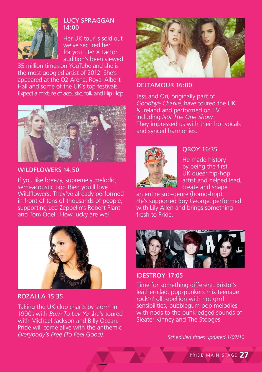 Bristol Pride Festival 2016 Programme by Bristol Pride