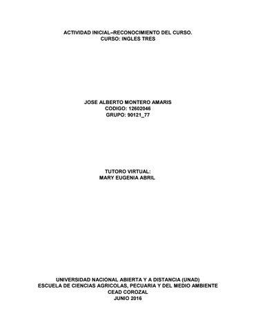 Trabajo De Reconocimiento Curso Ingles 3 By Jamonteroa Issuu