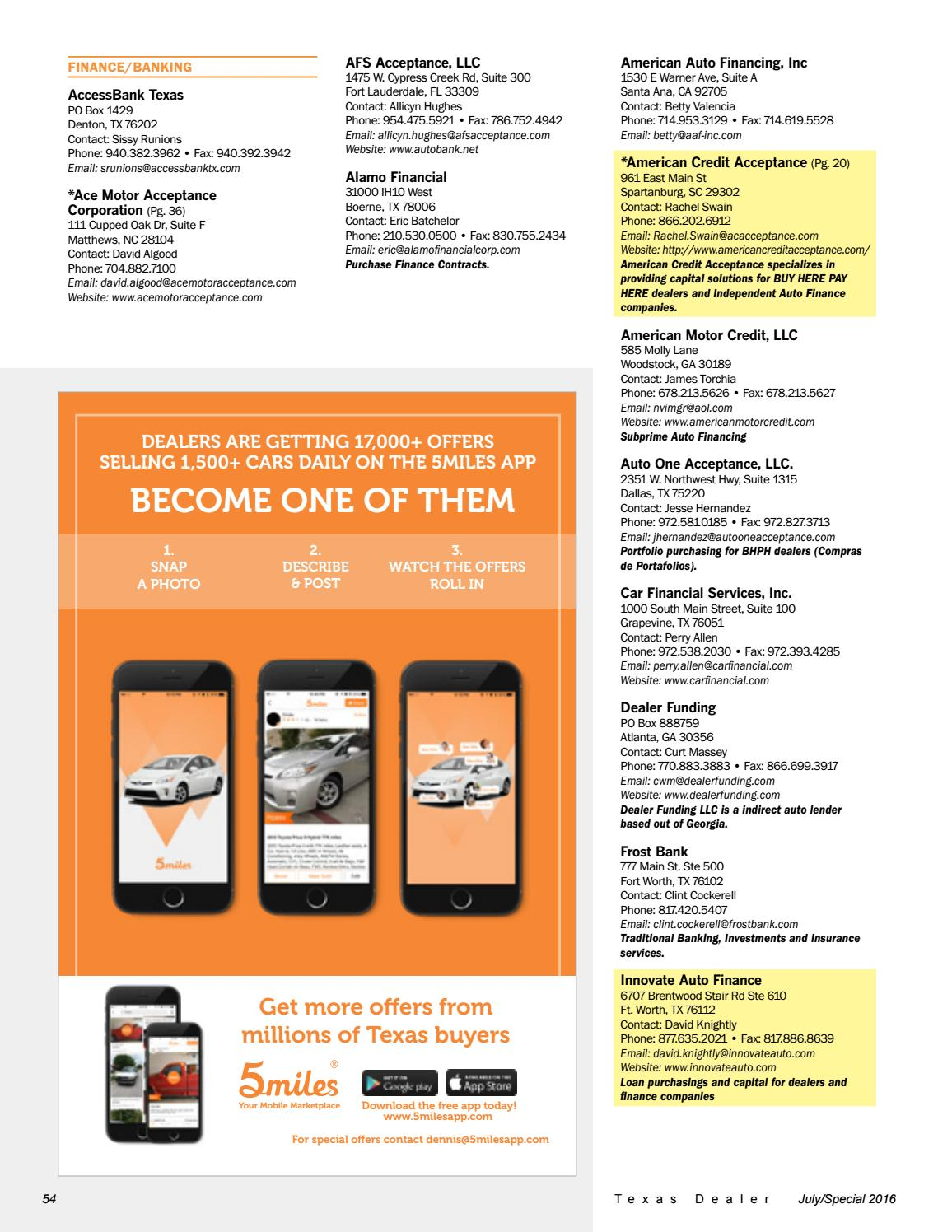 Texas Dealer, July 2016 by Texas Independent Auto Dealers Association - issuu