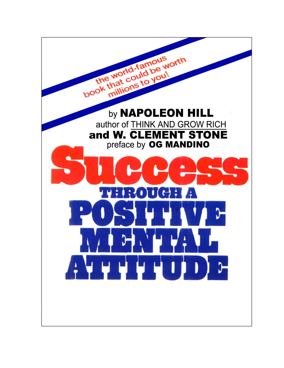 Success through a positive mental attitude w clement stone napoleon