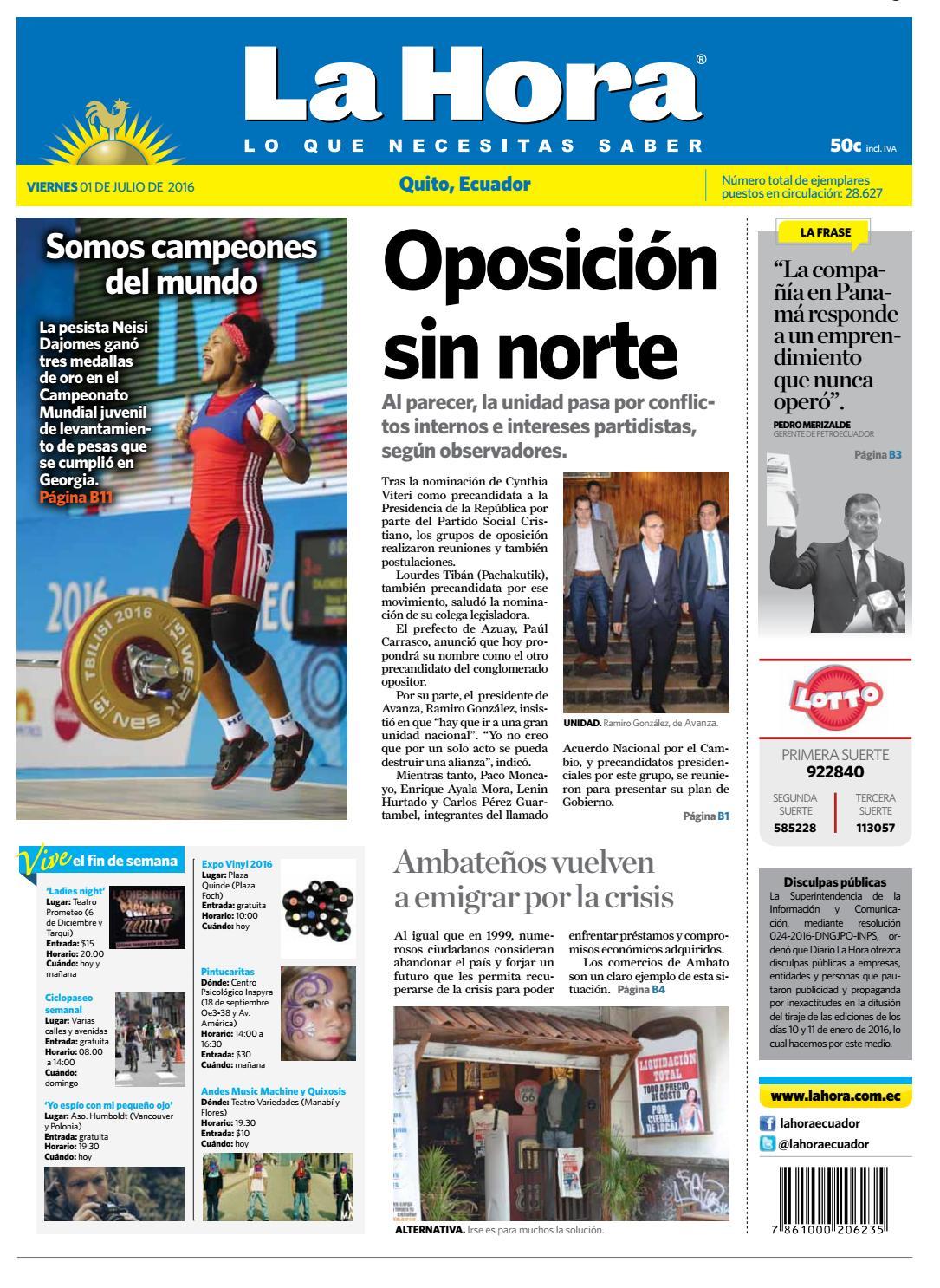 Quito 09 De Septiembre De 2016 By Diario La Hora Ecuador Issuu # Muebles Nilda House Quito