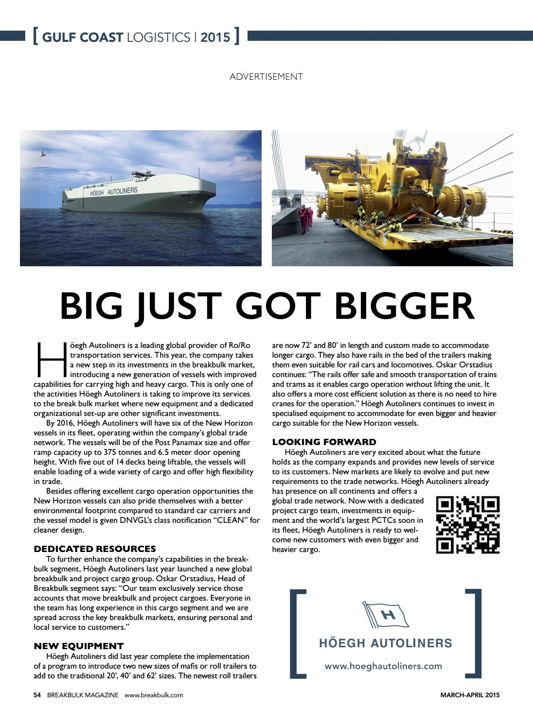 Breakbulk Magazine March/April 2015 by Breakbulk Events