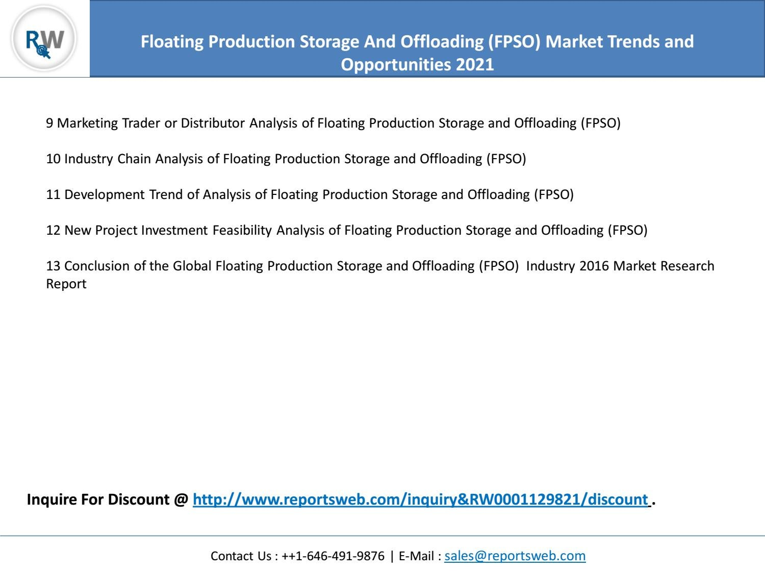 Global Floating Production Storage And Offloading (FPSO
