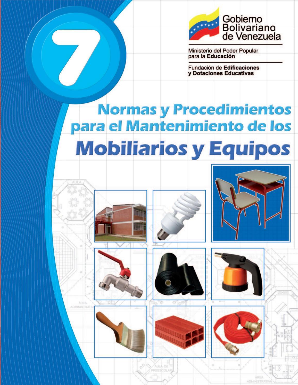 Manual De Mantenimiento 7 Mobiliario Y Equipo By Unomasalacola 1  # Muebles Fijos Especificaciones