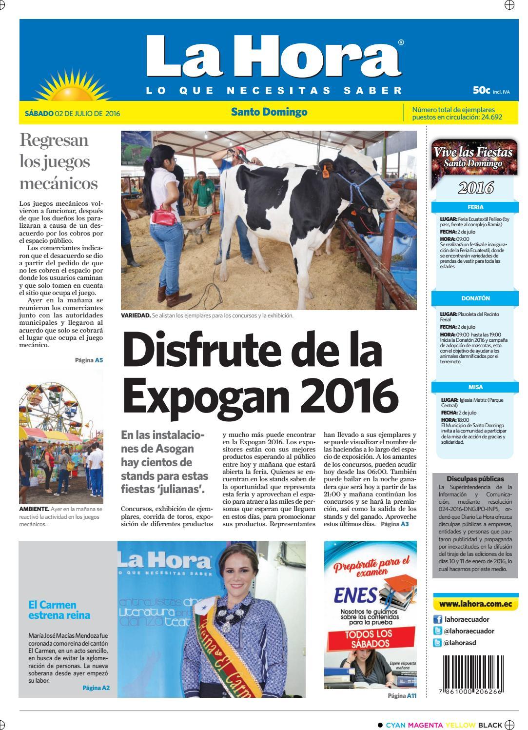 Santo Domingo 02 de julio de 2016 by Diario La Hora Ecuador - issuu 17720c422dd