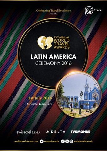 87e3ec9754f1 World Travel Awards Latin America Ceremony 2016 by World Travel ...