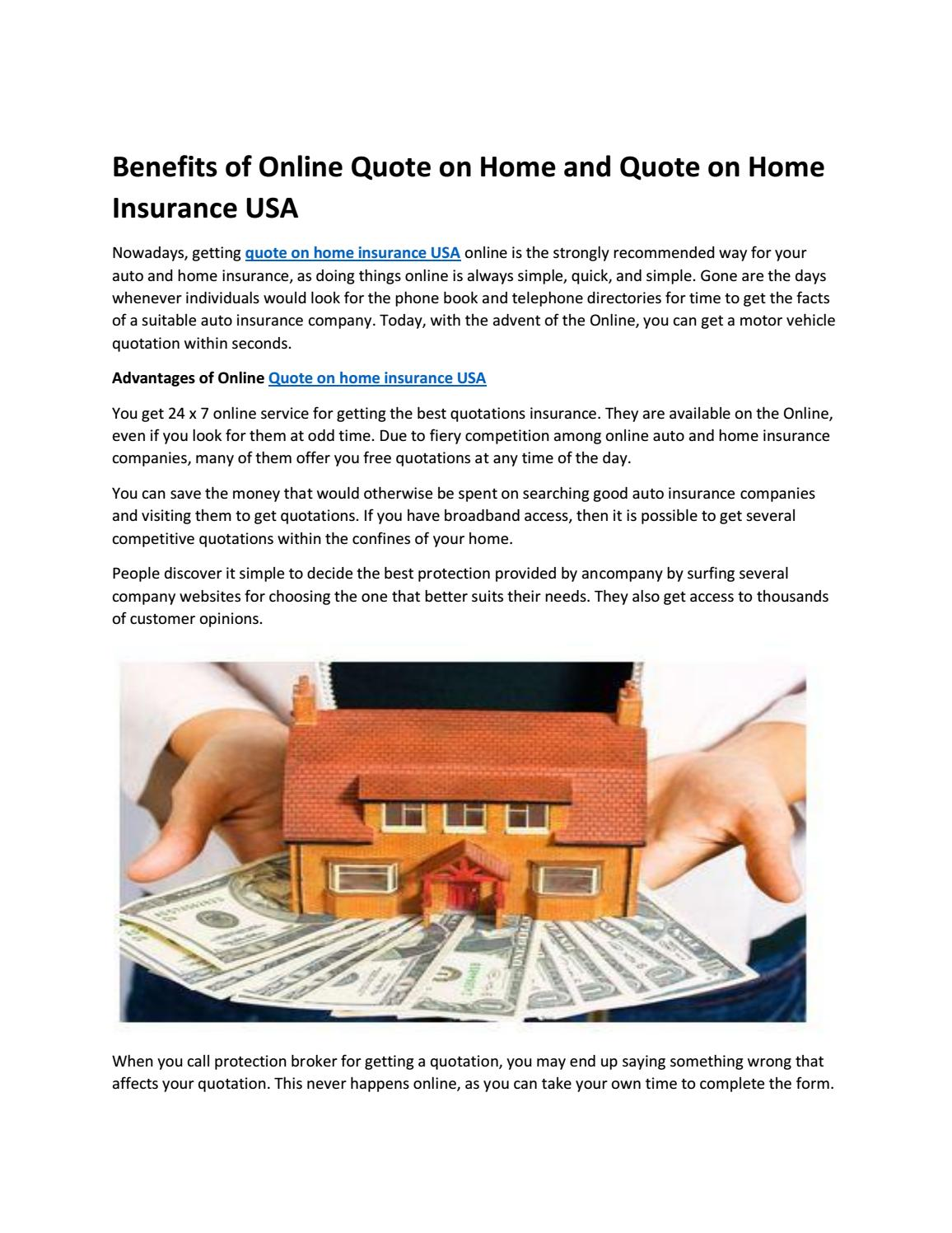 Quote On Home Insurance Usa By Fleetplus Issuu