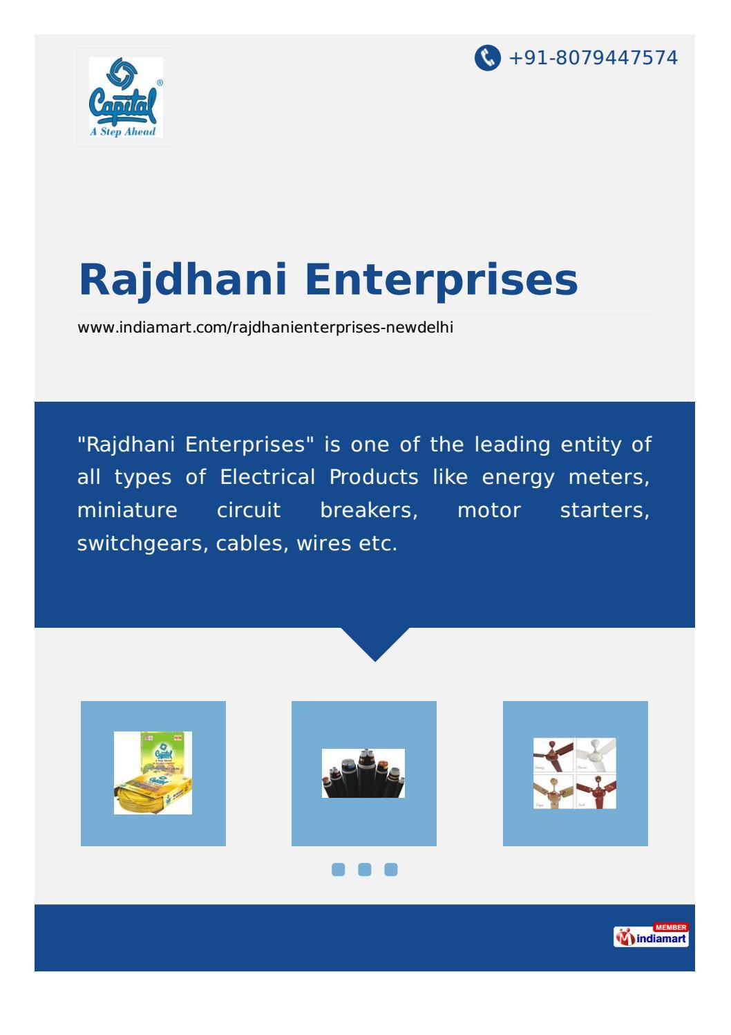 Rajdhani Enterprise By Ok Gupta Issuu Wiring Miniature Circuit Breaker