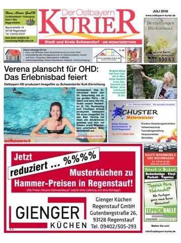Nord Ostbayern Kurier Juli 2016 By Medienverlag Hubert Suss Issuu