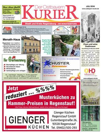 Sued Ostbayern Kurier Juli 2016 By Medienverlag Hubert Suss Issuu