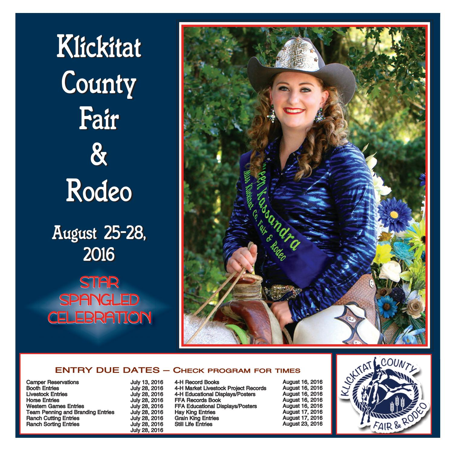 2016 Klickitat County Fair Premium Book By Goldendale