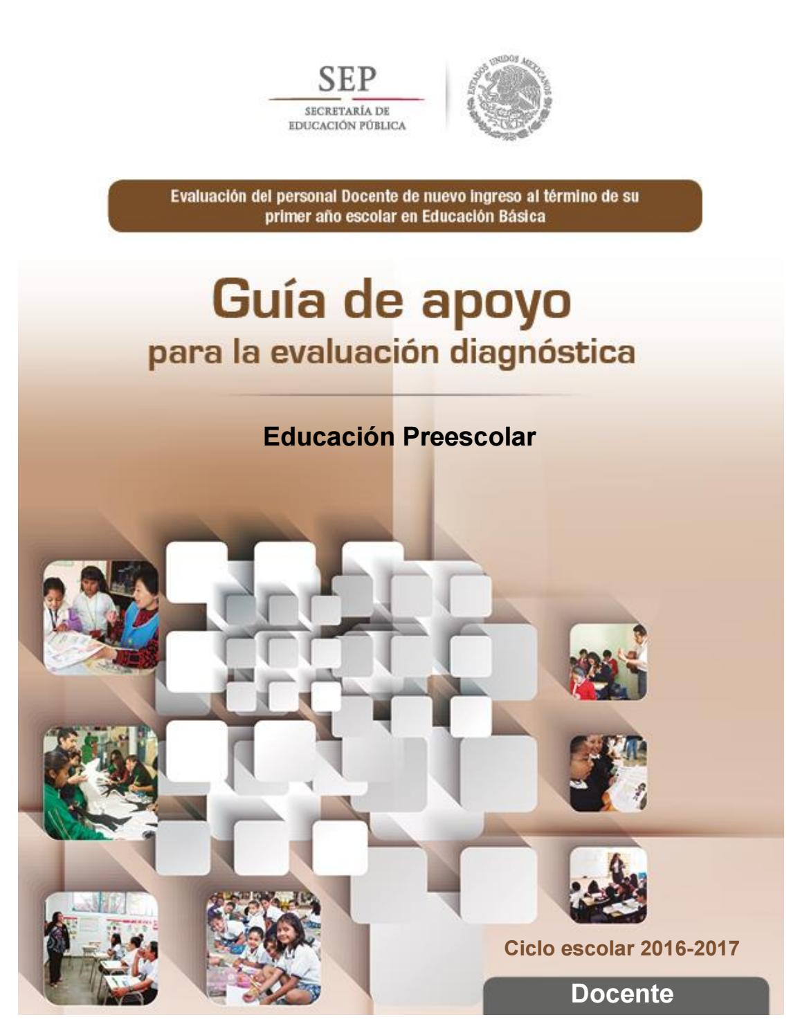 Guia Para La Evaluaci N Diagnostica 2016 2017 By Alondra