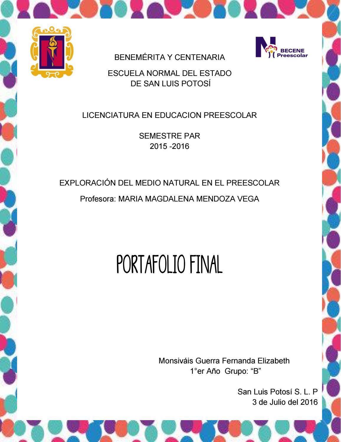 c19b97683de0 Exploración del medio natural en el preescolar by Fernanda Monsivais ...