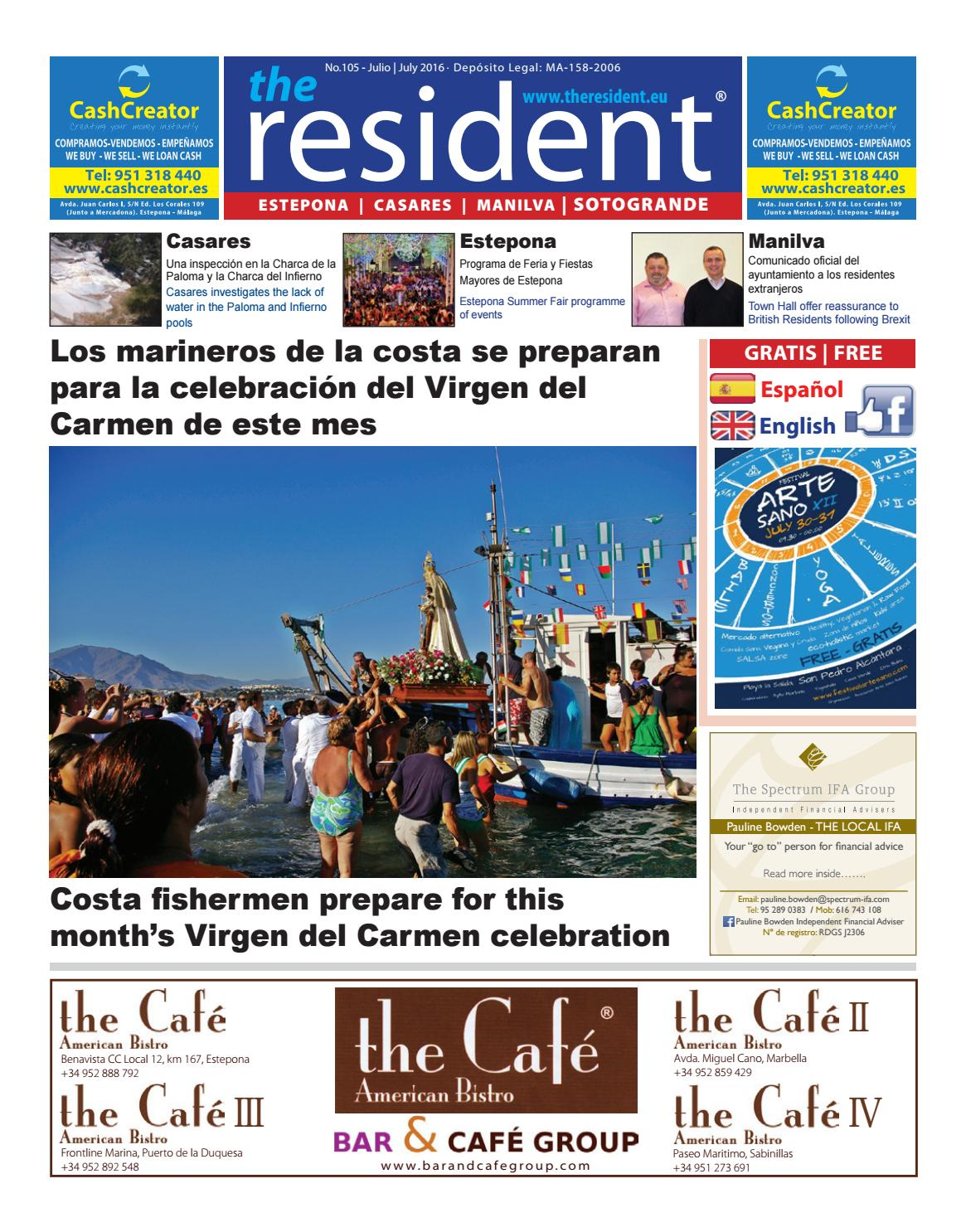 The Resident Newspaper July2016 By Manilva Media Workshop