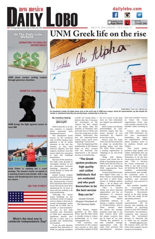 NM Daily Lobo 07 03 16 by UNM Student Publications - issuu