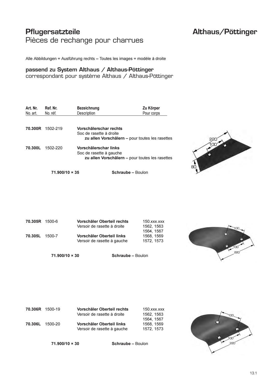 Frank Original Scharspitze 3364050 rechts 3364051 links B2S passend zu Lemken