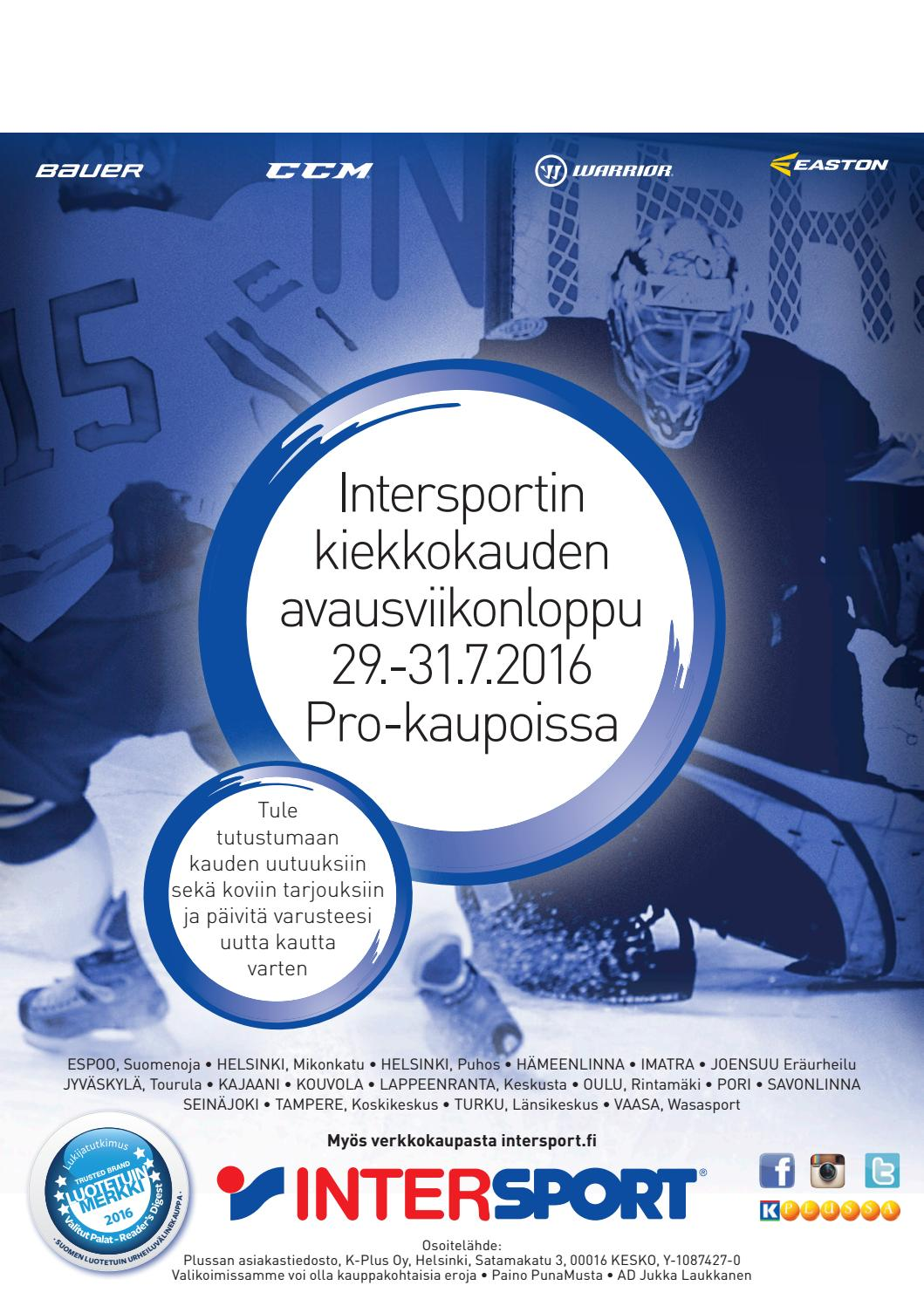 Intersportin kiekkokuvasto 2016 by Intersport Finland - issuu bdb94b8105