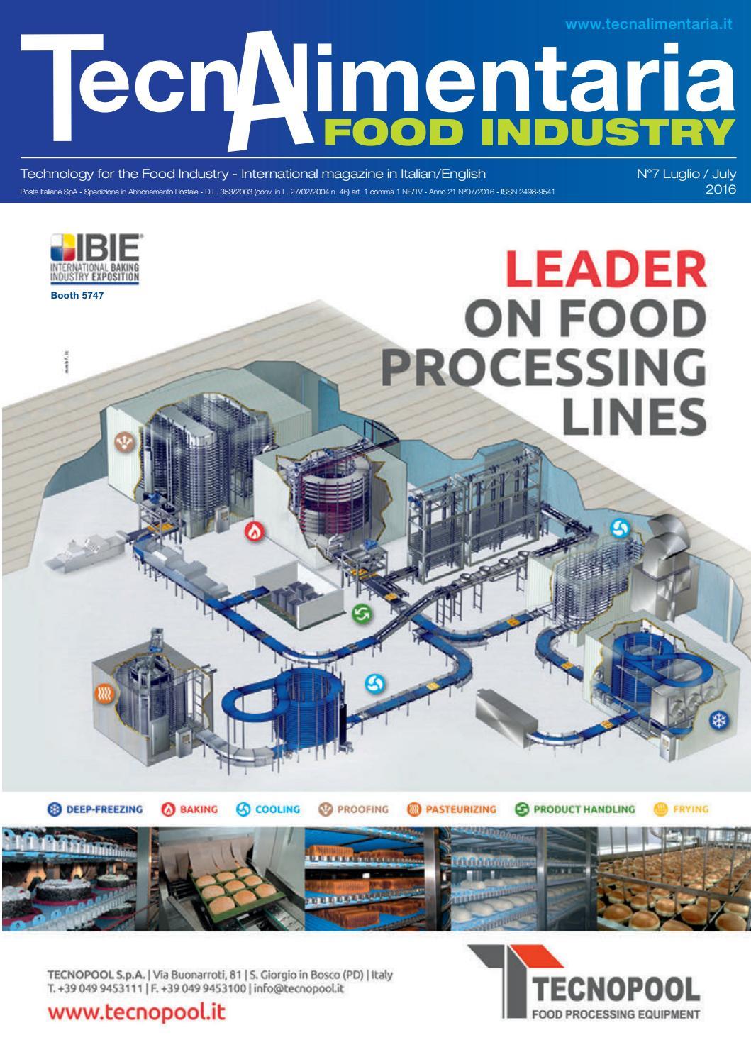 Tecnalimentaria food industry luglio july 2016 by