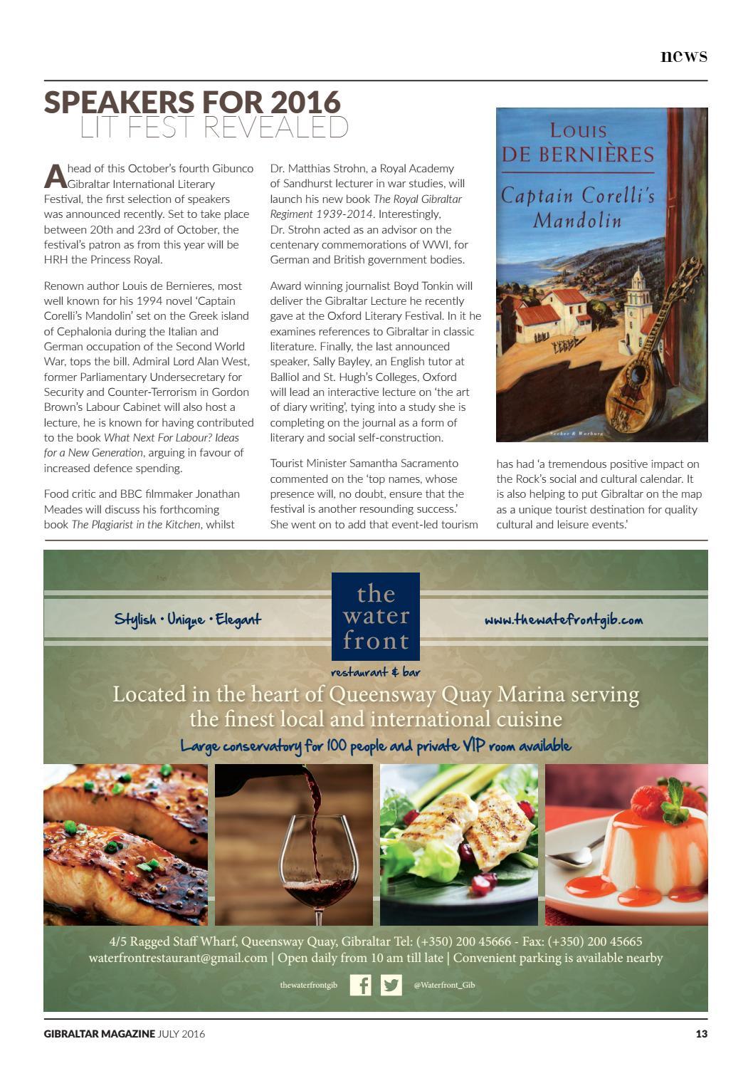 The Gibraltar Magazine - July 2016 by Rock Publishing Ltd - issuu