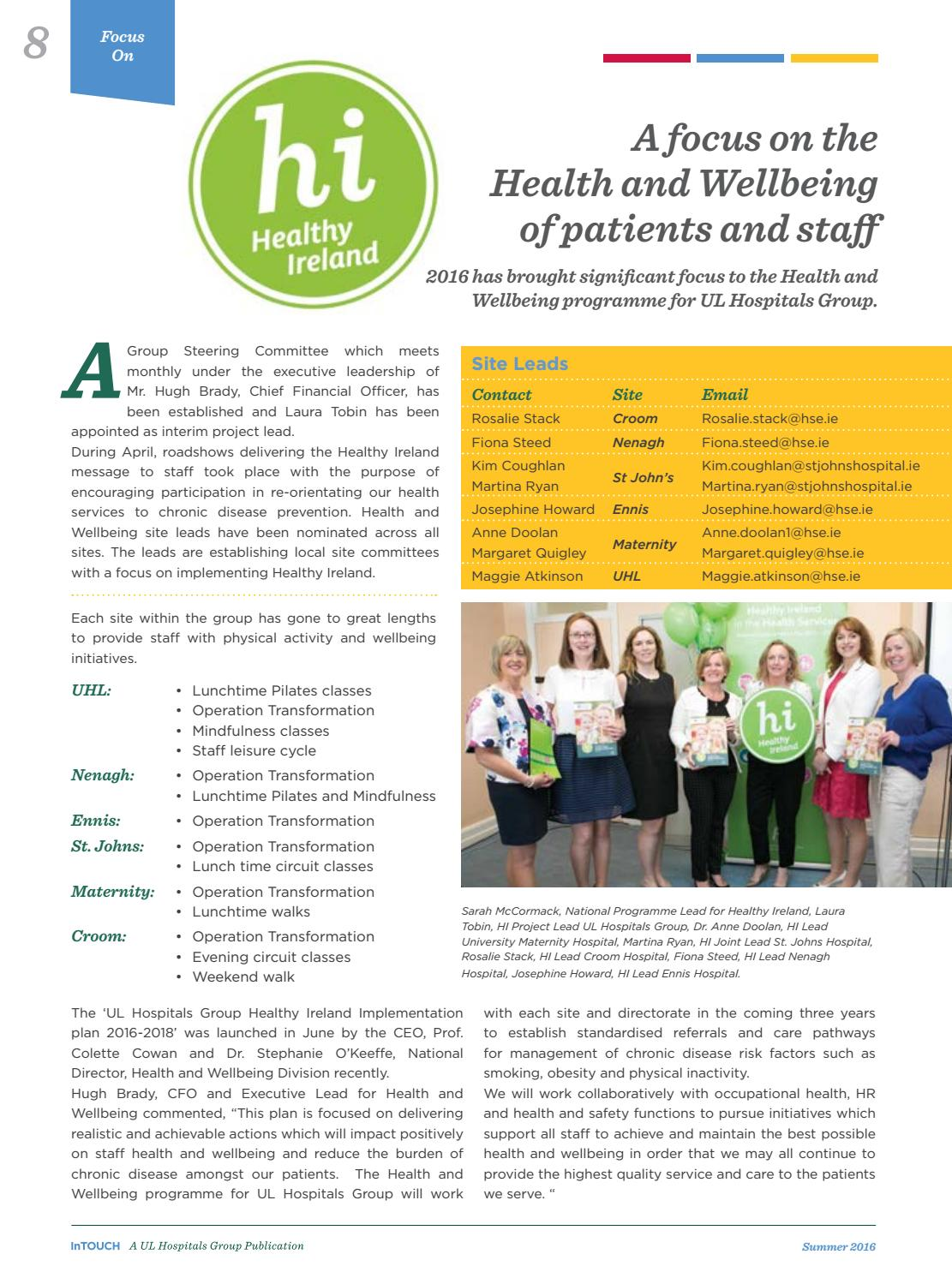 UL Hospital Group - In Touch Summer Magazine 2016 by HSE